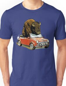 Bison in a Mini. Unisex T-Shirt