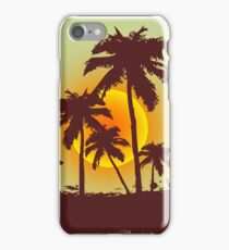 Surfer on tropical background iPhone Case/Skin