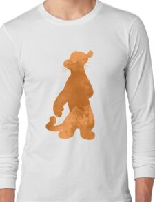 Tiger Inspired Silhouette Long Sleeve T-Shirt