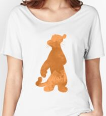 Tiger Inspired Silhouette Women's Relaxed Fit T-Shirt
