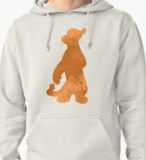 Tiger Inspired Silhouette Pullover Hoodie