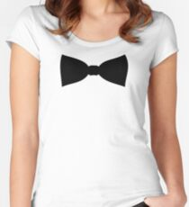 Bow tie Women's Fitted Scoop T-Shirt