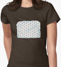 Crumpled Women's Fitted T-Shirt