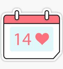 Valentine's icon 4 Sticker