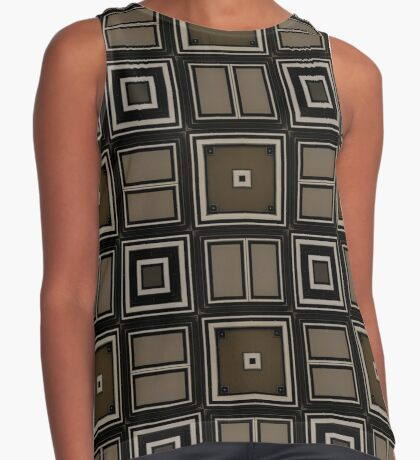 Earthy Taupe Design by Julie Everhart Sleeveless Top