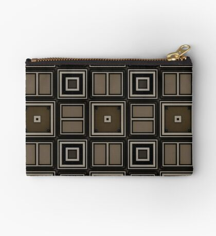 Earthy Taupe Design by Julie Everhart Zipper Pouch