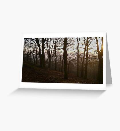 Foggy Sunset Greeting Card
