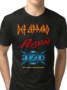 2017 Tour Unisex T-shirt, Def Leppard, Poison, Tesla