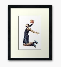 LeBron James Dunking Collection Framed Print