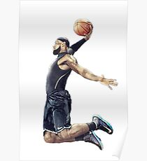 LeBron James Dunking Collection Poster