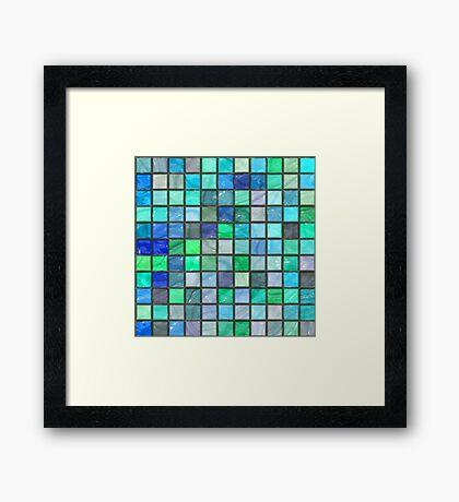Tile Squares Design by Julie Everhart Framed Print