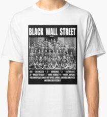 Schwarze Wall Street Classic T-Shirt