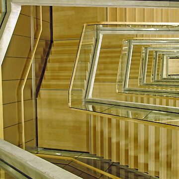 Riga Latvia New Library Stairwell. by VisionZone
