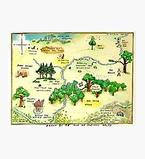 100 Aker Wood Winnie the Pooh By AA Milne Photographic Print
