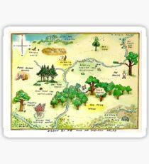 100 Aker Wood Winnie the Pooh By AA Milne Sticker