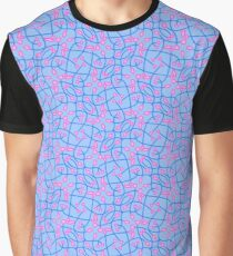 Patterns::Blue Pink Vines Graphic T-Shirt