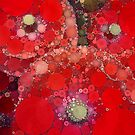 Red Poppies Abstract by OLIVIA JOY STCLAIRE