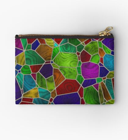 Stained Glass Design by Julie Everhart Zipper Pouch