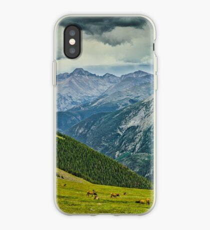 Elk And Longs Peak iPhone Case