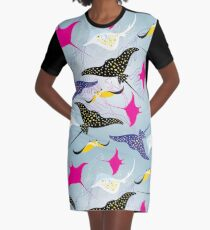 Nahtloser Muster Stingray T-Shirt Kleid