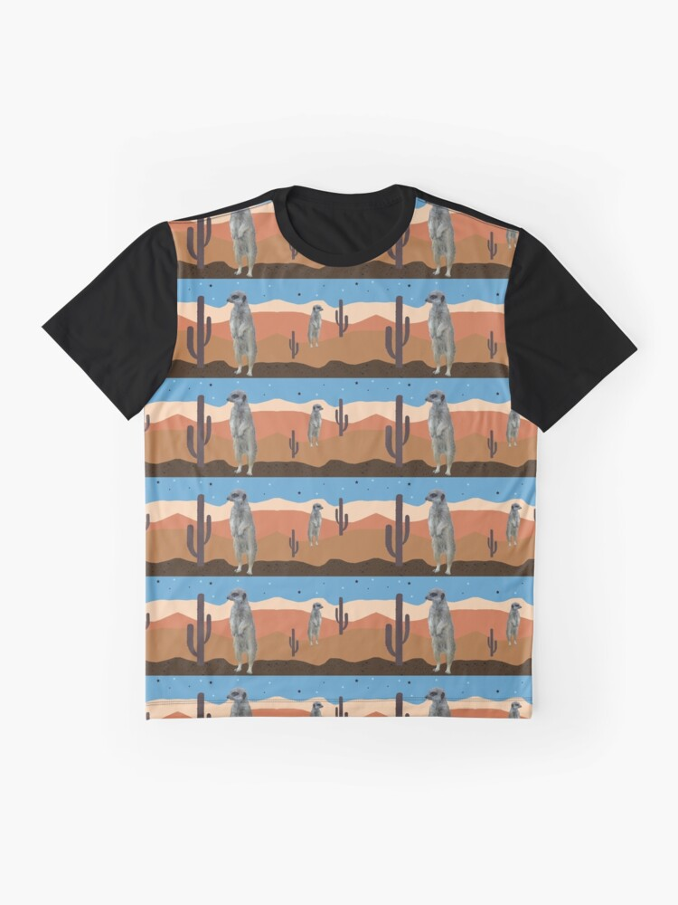 Alternate view of Desert Meercats and Cactus Graphic T-Shirt