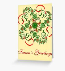 Abstract Christmas Card Greeting Card