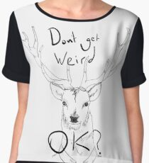 People Of Earth. Stag/Deer Women's Chiffon Top