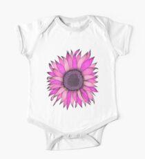 Pink Sunflower Graphizen One Piece - Short Sleeve