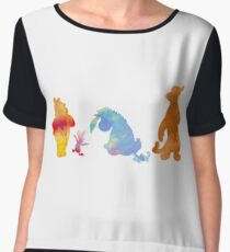Friends together Inspired Silhouette Chiffon Top