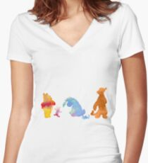 Friends together Inspired Silhouette Women's Fitted V-Neck T-Shirt
