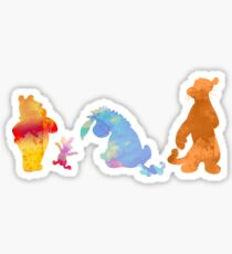 Friends together Inspired Silhouette Sticker