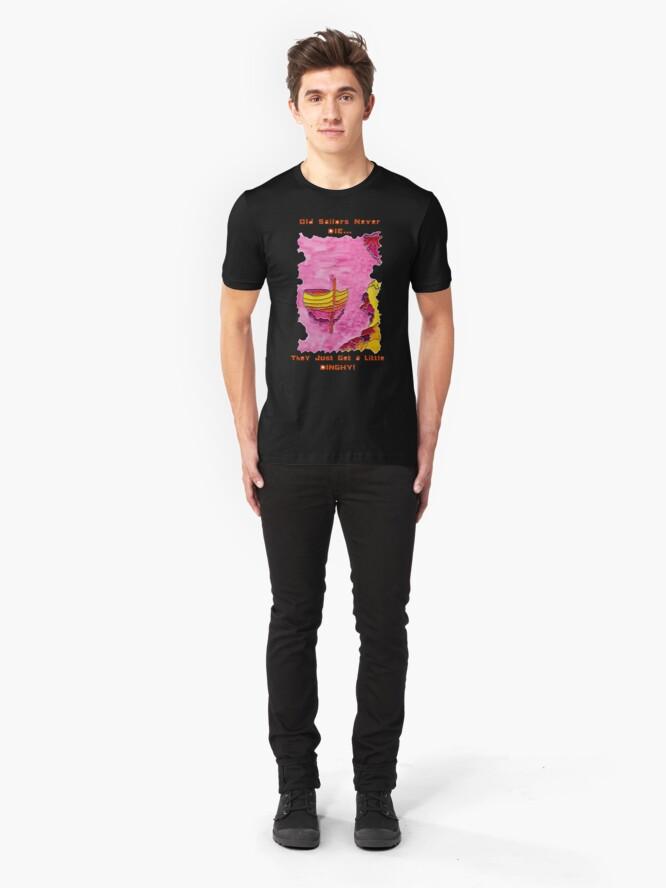 Alternate view of CUTE SAILING DINGHY NAUTICAL Slim Fit T-Shirt