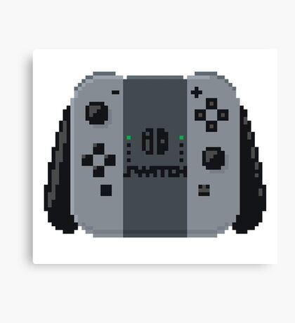Nintendo switch controller in pixelart Canvas Print