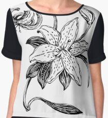 One simple lily flowers Women's Chiffon Top