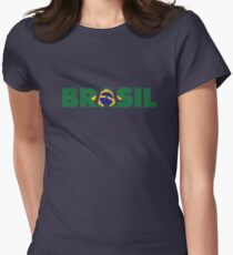 Brasil Womens Fitted T-Shirt