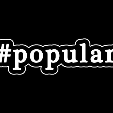 Popular - Hashtag - Black & White de graphix