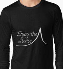 8b8cb19af Enjoy the silence -white Long Sleeve T-Shirt