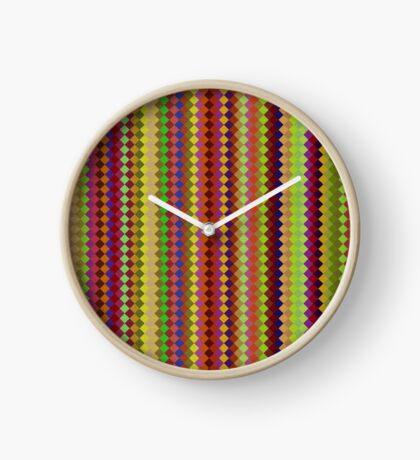 Retro Stripes by Julie Everhart Clock