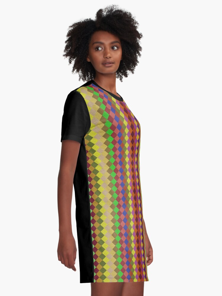 Alternate view of Retro Stripes by Julie Everhart Graphic T-Shirt Dress