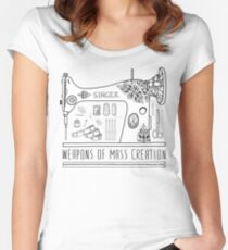 Weapons Of Mass Creation - Sewing Women's Fitted Scoop T-Shirt
