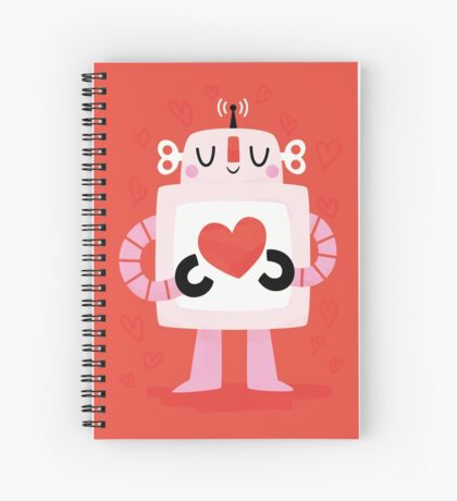 Love Robot Spiral Notebook