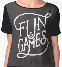 Fun and Games Chiffon Top
