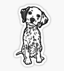 Dalmatian White Grey Spots Sticker