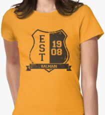 Balmain Rugby League: Established Shield Womens Fitted T-Shirt