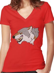 Wolfish Women's Fitted V-Neck T-Shirt