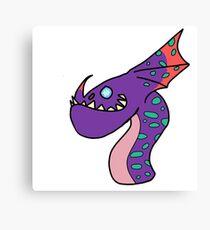 Minimalist Dragons: Gruff Canvas Print