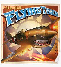 P-40 WARHAWK FLYING TIGER  Poster