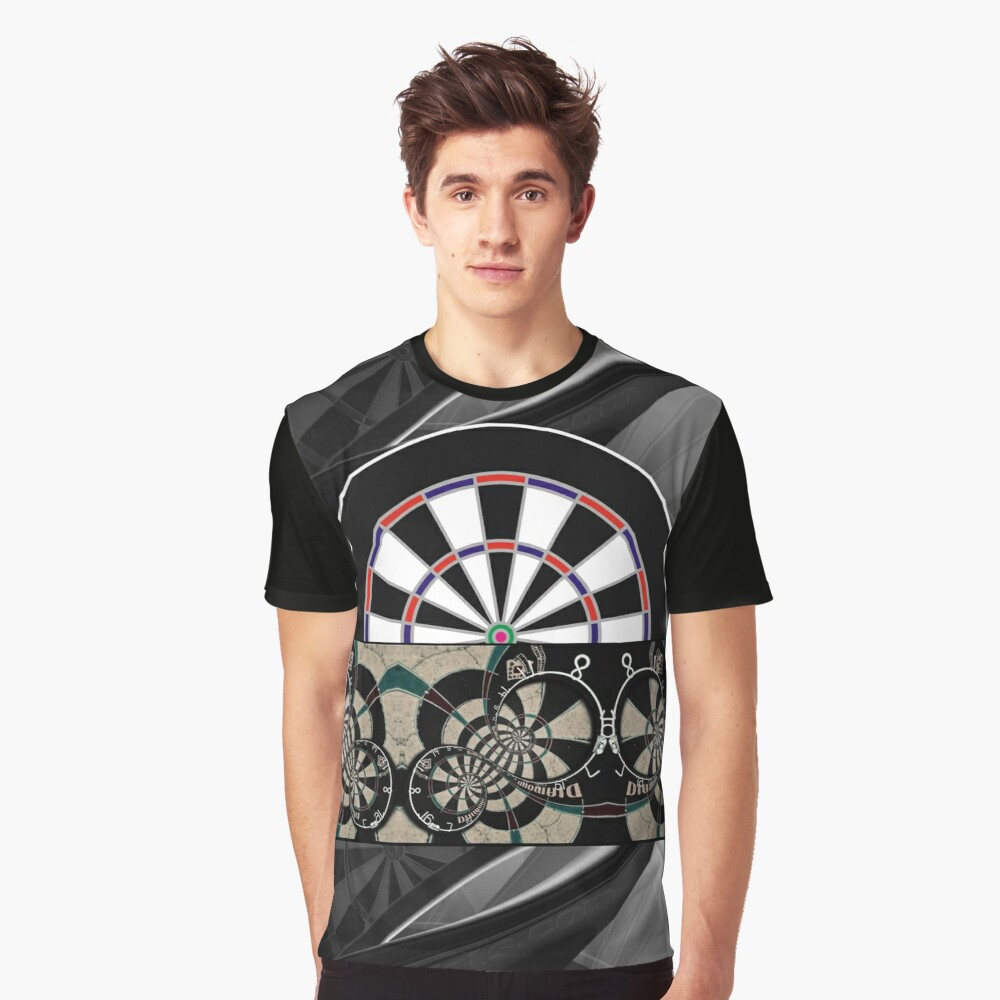 Abstract Darts Shirt Graphic T-Shirt Front