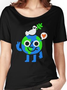 World Peace & Love T-shirt femme coupe relax