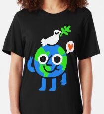 World Peace & Love Slim Fit T-Shirt
